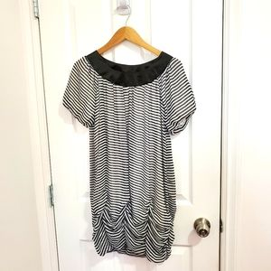 Korean Bubble Striped Dress